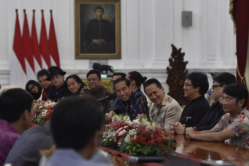 Musisi Tanah Air Bertemu Jokowi Bahas Hak Cipta