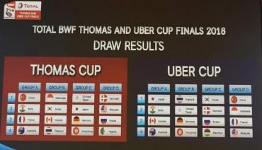 Undian Piala Thomas dan Uber, Indonesia Tergabung di Grup Neraka