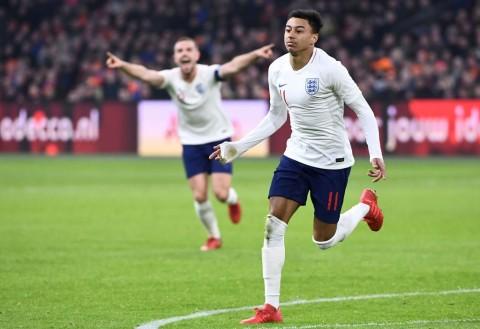 Gol Perdana Lingard Menangkan Inggris atas Belanda