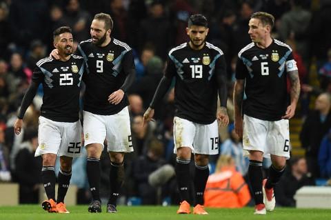 Tanpa Messi, Argentina Bungkam Italia 2-0