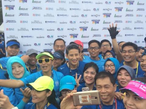 Sandi Ikut Lari 5 KM di Metro TV Heritage Run