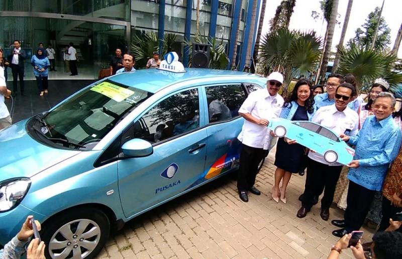 Blue Bird menempelkan logo Wonderful Indonesia di armadanya. Medcom/A. Harry Budiawan