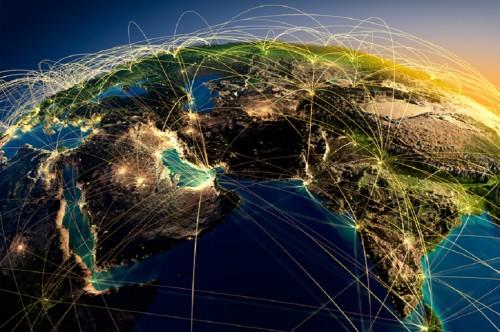 Ilustrasi jaringan teknologi, Medcom.id - M Rizal