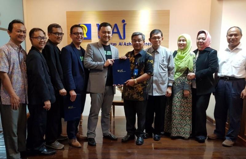 Masyarakat Ekonomi Syariah (MES) DKI Jakarta dan Universitas Al Azhar Indonesia menandatangani nota kesepahaman kerja sama program pengembangan kewirausahaan (Foto:Dok)