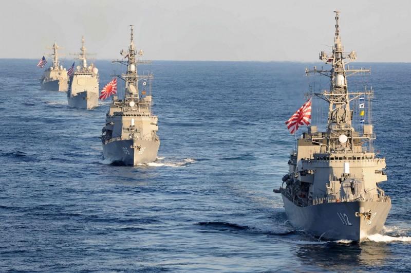 Kapal perang Jepang Takanami. (Foto: AFP/US NAVY/MICHAEL RUSSELL)