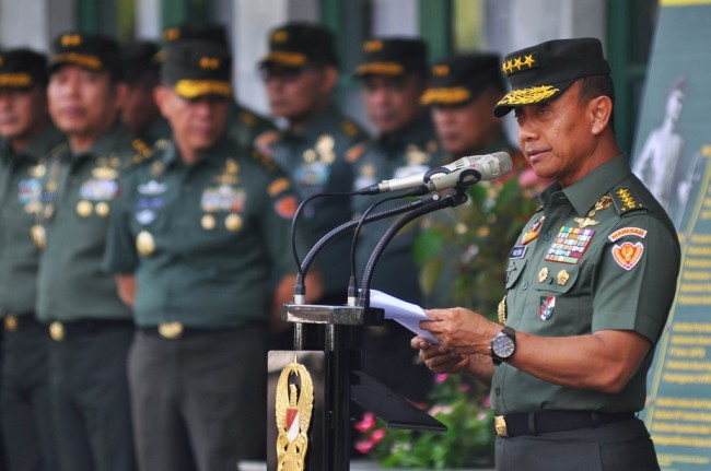 KSAD Jenderal Mulyono. Antara/Anis Efizudin.