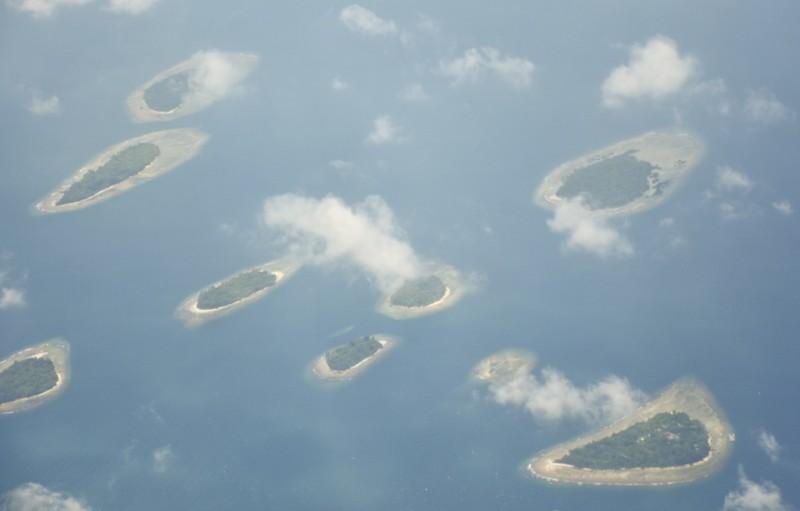 Foto udara gugusan Kepulauan Seribu di Jakarta. Foto: Antara/Ahmad Subaidi.