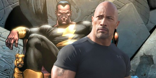 Dwayne Johnson dan Black Adam (Foto: via screenrant)