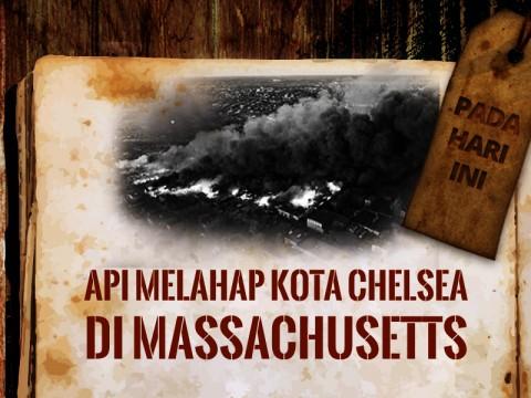 Hari ini: Api Melahap Kota Chelsea di Massachusetts