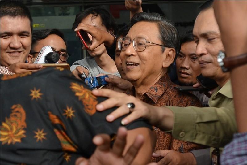 Mantan Wakil Presiden RI periode 2009-2014 Boediono - ANT/Wahyu Putro A.