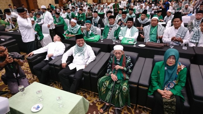 Ketua Umum Partai Persatuan Pembangunan (PPP) M Romahurmuziy dalam Musyawarah Nasional Alim Ulama - Medcom.id/Yogi Bayu Aji.