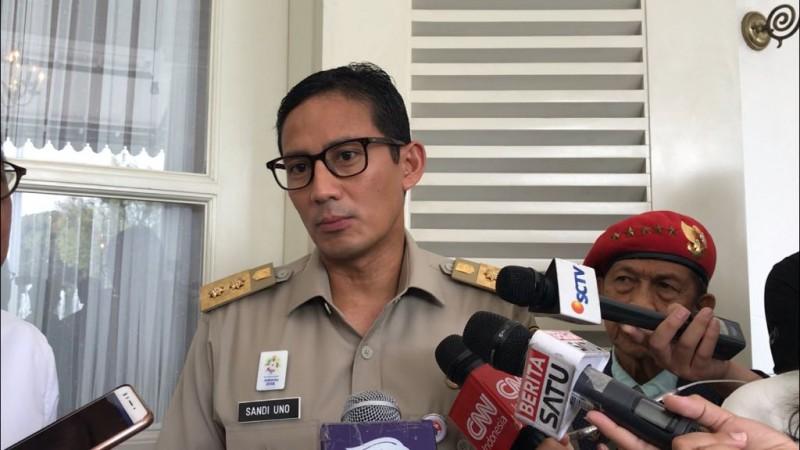 Wakil Gubernur DKI Jakarta Sandiaga Uno. Medcom.id/M Sholahadhin Azhar.