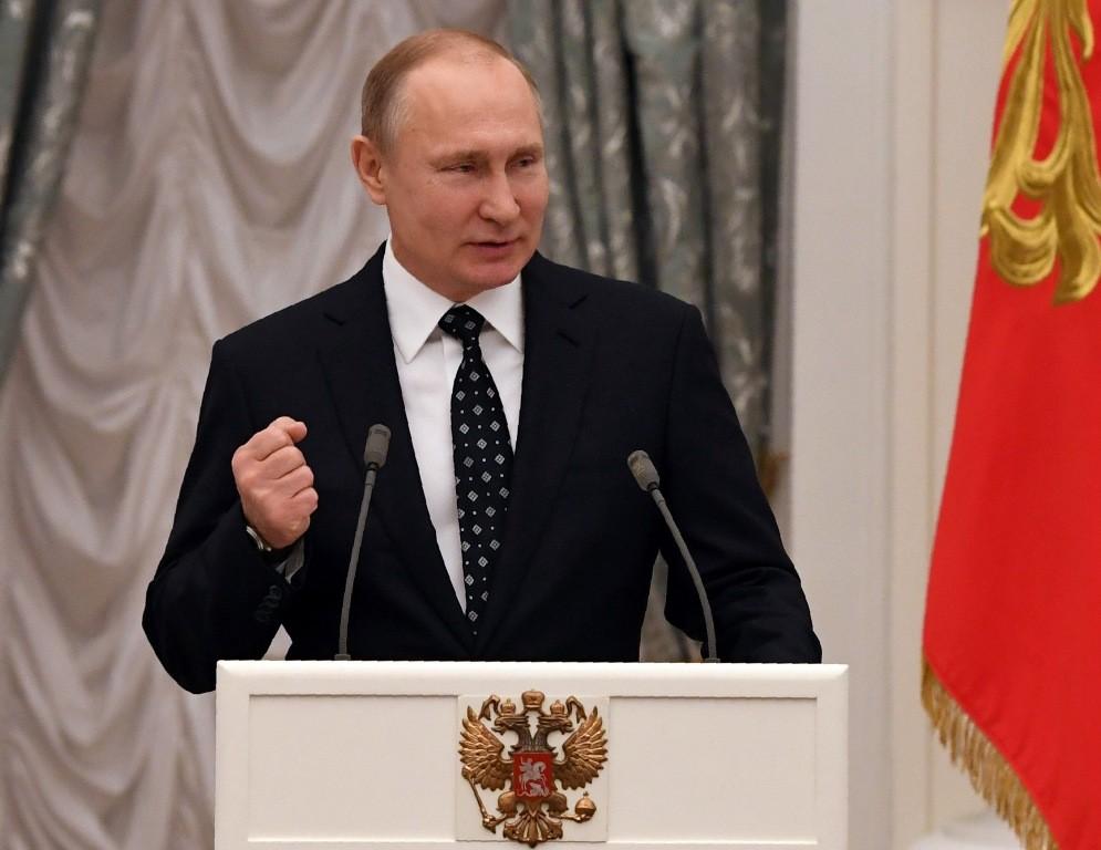 Presiden Rusia Vladimir Putin peringatkan serangan Barat ke Suriah (Foto: AFP).
