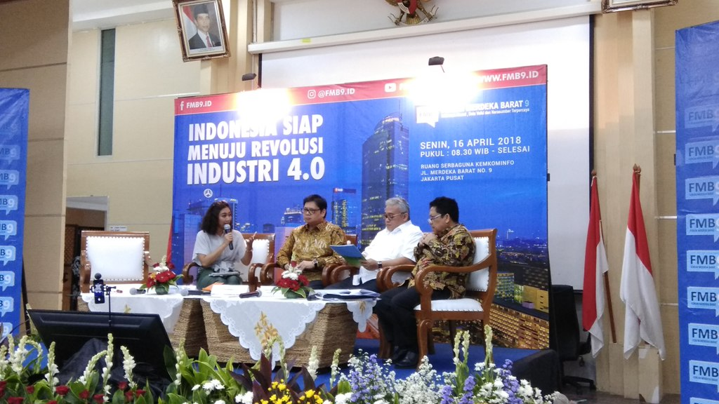 Suasana diskusi Indonesia Menuju Revolusi Industri 4.0 di Kemenkominfo, Jakarta. (Foto: Medcom.id/Fachri Audhia Hafiez)