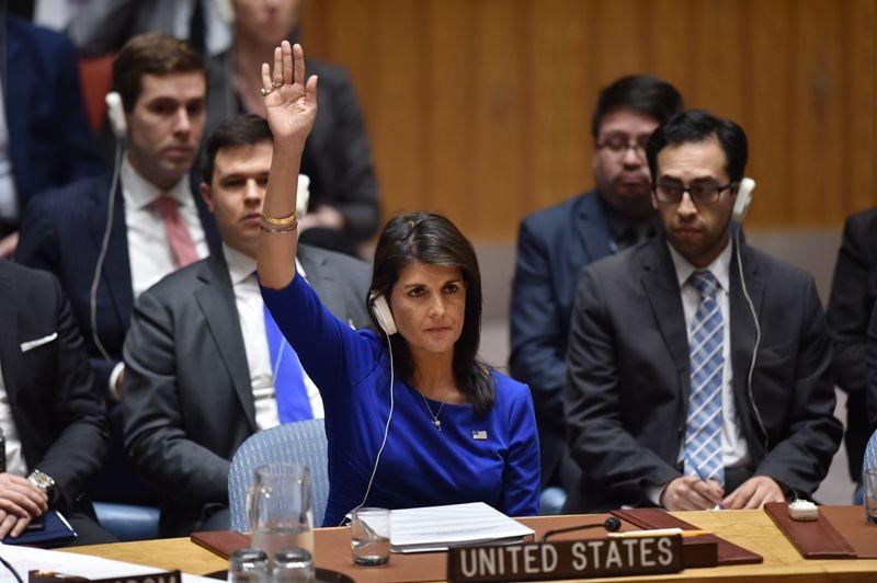 Dubes AS untuk PBB Nikki Haley tegaskan misi negaranya di Suriah sangat jelas (Foto: AFP).