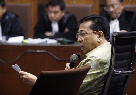 Terdakwa kasus korupsi KTP-el Setya Novanto. MI/Bary Fathahilah