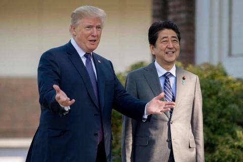 Korut jadi Agenda Utama Pertemuan Trump-Abe