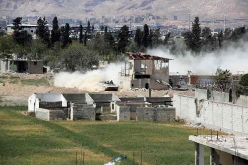 Wilayah Douma di Ghouta timur menjadi salah satu basis kekuatan