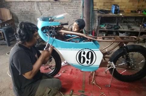 Cafe Racer milik Gibran yang digarap ulang untuk kemudian