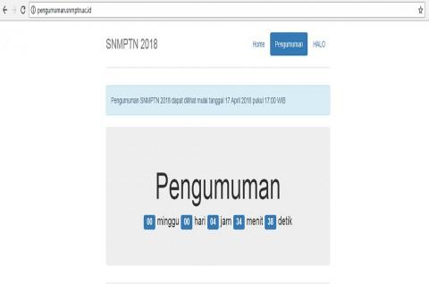Website pengumuman SNMPTN 2018, hasil tes diumumkan sekitar