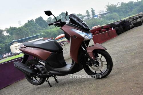 Yamaha Lexi dilabeli harga termahal Rp22,8 juta. Medcom/ A.