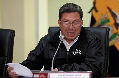 Menteri Dalam Negeri Ekuador Cesar Navas. (Foto: AFP/CRISTINA