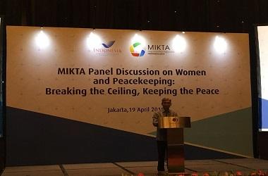Wamenlu Fachir dalam pidato pembukaan MIKTA Panel Discussion on