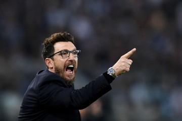 Pelatih AS Roma Eusebio Di Francesco (Foto: AFP PHOTO / FILIPPO