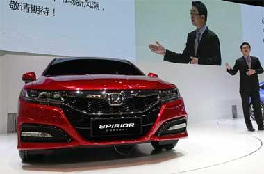 Foto ilustrasi penampilan Honda di Beijing Auto Show 2014.