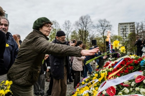 Perayaan 75 tahun pemberontakan Ghetto di Polandia. (Foto: AFP)