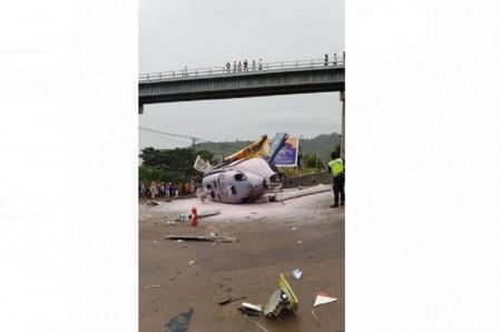 Satu Orang Tewas Tertimpa Helikopter Jatuh di Morowali