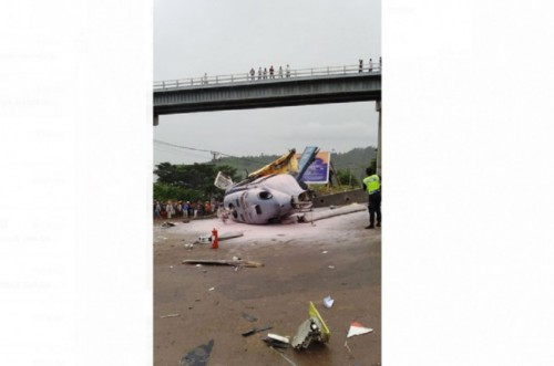 The crash occurs at the Indonesia Morowali Industrial Park in