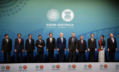 Presiden Joko Widodo saat pertemuan ASEAN-Australia (Foto: AFP).