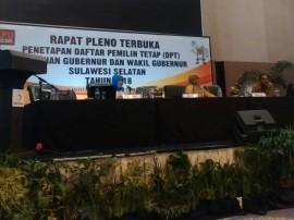 KPU Tetapkan DPT Pilgub Sulsel, Makassar Terbanyak