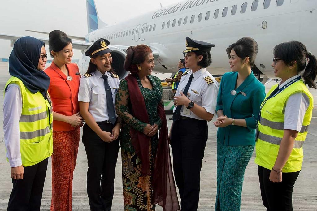 Menteri Susi Ikuti Garuda Kartini Flight