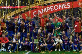 Tekuk Sevilla, Barcelona Pertahankan Gelar Copa del Rey