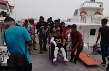 Kapal Motor Meledak, 9 Orang Terluka