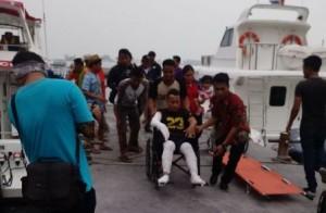 Empat Korban Ledakan Kapal Motor Dirujuk ke RS Koja