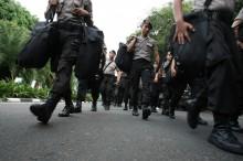 Ribuan Polisi Diterjunkan Kawal Demo Ojek <i>Online</i> di DPR