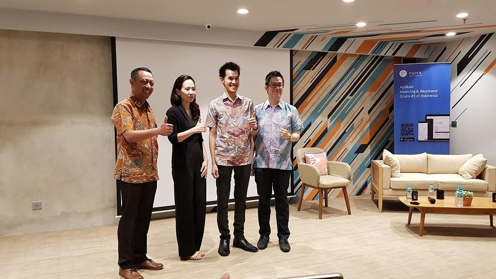 Peluncuran Paper.id di Jakarta, Senin 23 April 2018