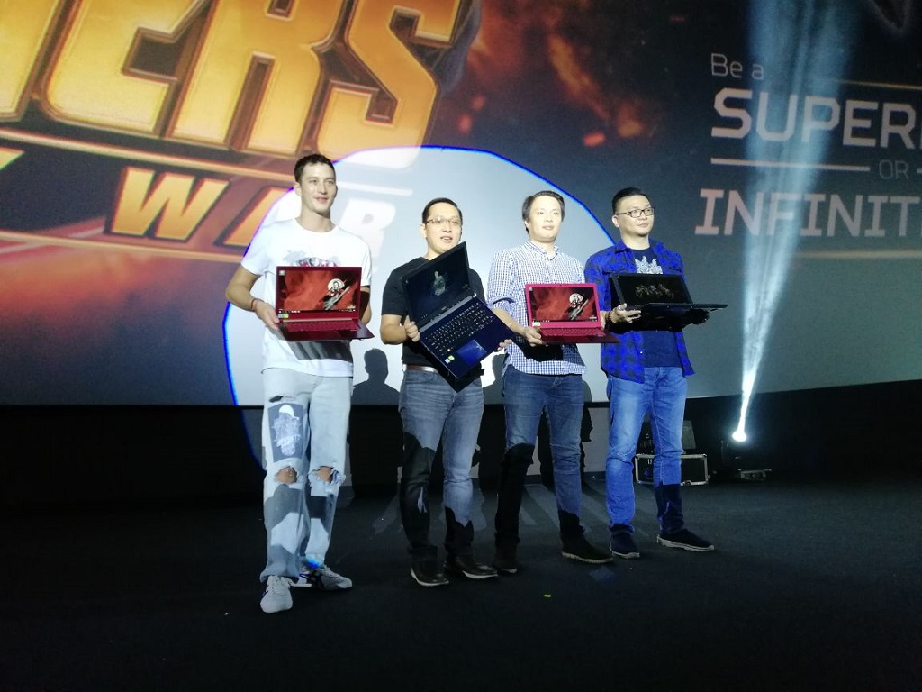 Peluncuran varian laptop Acer yang memiliki desain dan tampilan dari  Avengers: Infinity War.