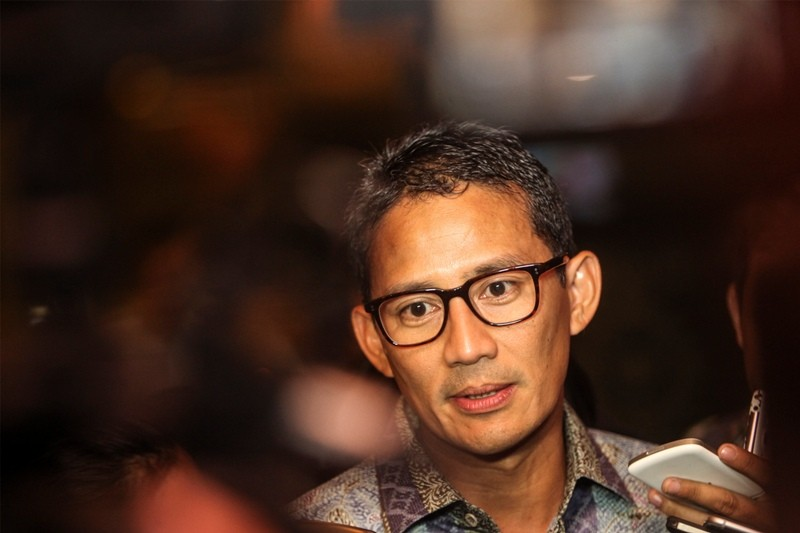 Wakil Gubernur DKI Jakarta Sandiaga Uno. Foto: Antara/Muhammad Adimaja