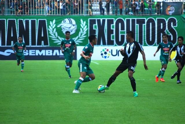 Jalannya pertandingan PSS Sleman melawan PS Mojokerto Putra. (Medcom.id-Ahmad Mustaqim)