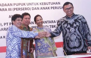 BNI Sinergi Kebutuhan Pupuk dengan Pupuk Indonesia-PTPN III