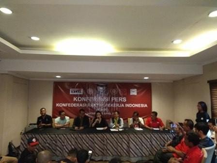 KRPI berencana merayakan hari buruh dengan menyampaikan aspirasi di depan Istana/Medcom.id/Desi