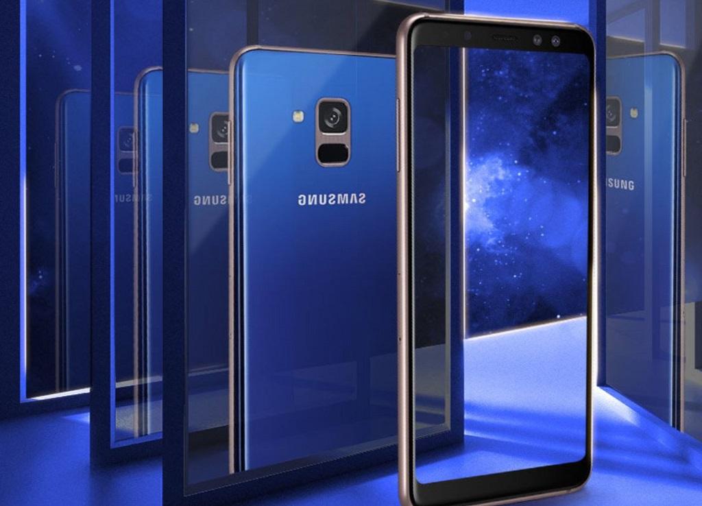 Gambar Galaxy A8+ edisi terbatas.