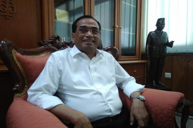 Menteri Perhubungan Budi Karya Sumadi di Kota Solo--Medco,.id/Pyhtag Kurniati