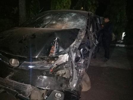Mobil Tabrak Belasan Kendaraan di Malang