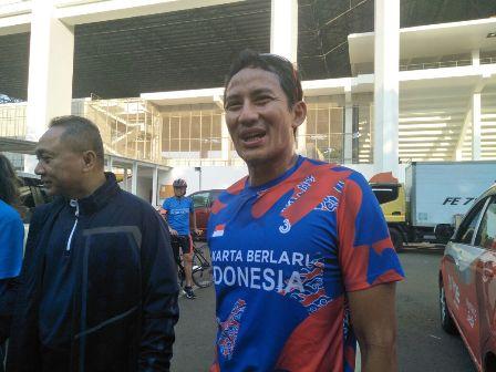 Wagub DKI jakarta Sandiaga Uno bersama Ketua MPR Zulkifli Hasan di kawasan Senayan/Medcom.id/Dian Ihsan