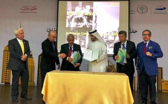 Nota kesepakatan ditandangani Ketua REI Sulaeman Sumawinata dan CEO DREI Mahmood Hesham El Burai
